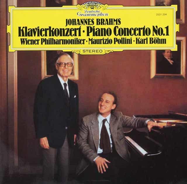 ポリーニ&ベームのブラームス/ピアノ協奏曲第1番 独DGG 3120 LP レコード