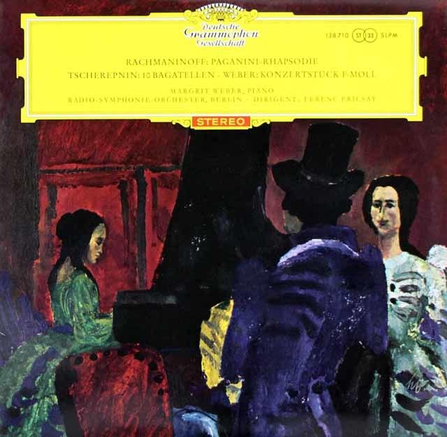【赤ステレオ、オリジナル盤】 ウェーバー&フリッチャイのラフマニノフ/パガニーニの主題による狂詩曲ほか  独DGG 3120 LP レコード