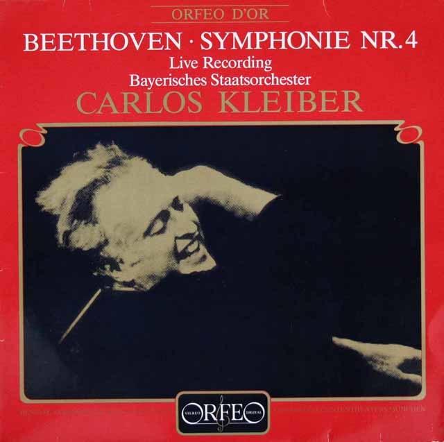 クライバーのベートーヴェン/交響曲第4番 独ORFEO 3120 LP レコード
