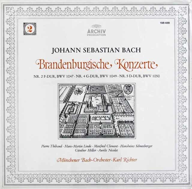 【未開封】リヒターのバッハ/ブランデンブルク協奏曲第2,4,5番  独ARCHIV 3120 LP レコード