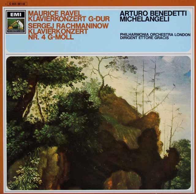 ミケランジェリのラヴェル&ラフマニノフ/ピアノ協奏曲 独EMI 3120 LP レコード