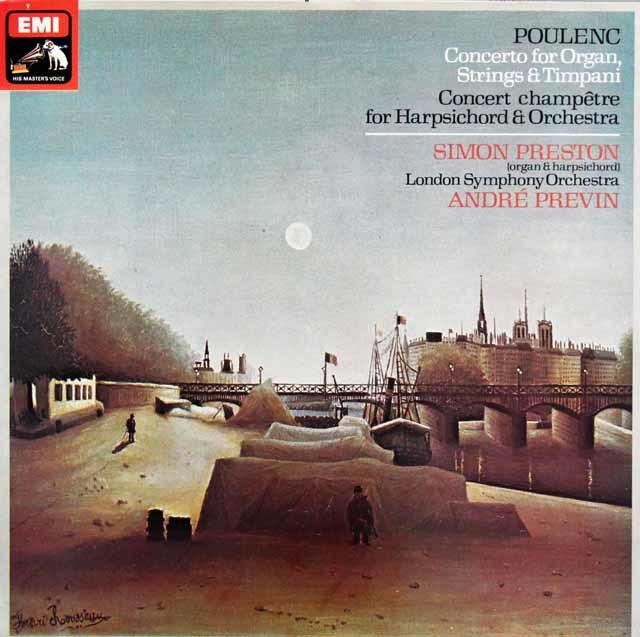 【オリジナル盤】 プレストン&プレヴィンのプーランク/オルガン協奏曲ほか 英EMI 3120 LP レコード