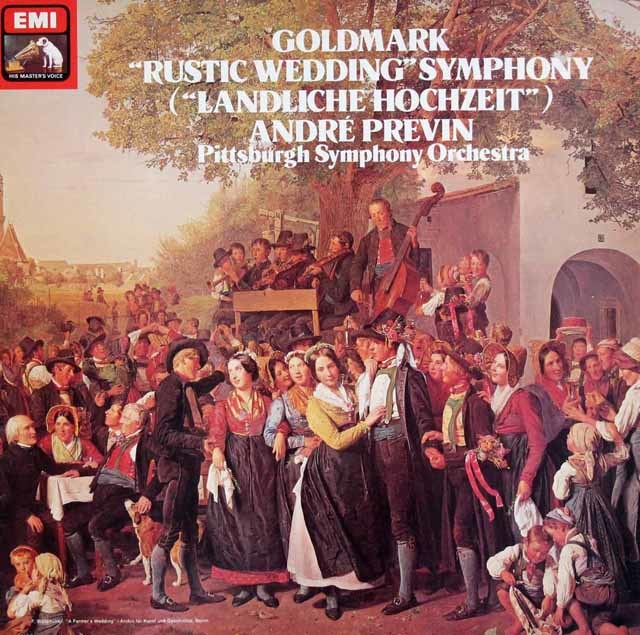 【オリジナル盤】 プレヴィンのゴルトマルク/「田舎の婚礼の交響曲」 英EMI 3120 LP レコード