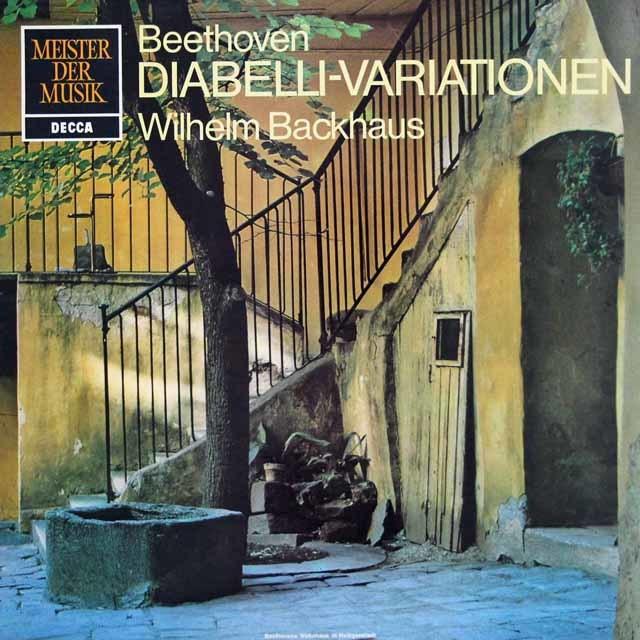 バックハウスのベートーヴェン/ディアベリの主題による33の変奏曲 独DECCA 3120 LP レコード