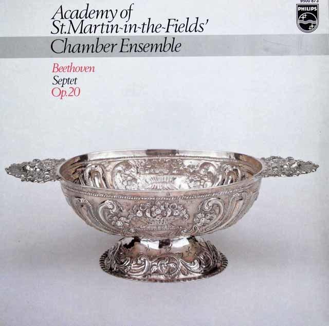 アカデミー室内管弦楽団のメンバーによるベートーヴェン/七重奏曲 変ホ長調 蘭PHILIPS 3120 LP レコード