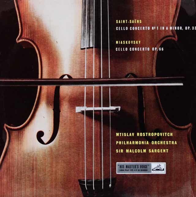 【オリジナル盤】 ロストロポーヴィチのサン=サーンス/チェロ協奏曲ほか  英EMI   3120 LP レコード