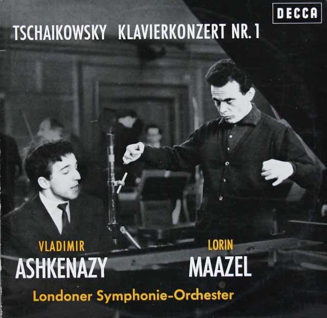 アシュケナージ&マゼールのチャイコフスキー/ピアノ協奏曲第1番 独DECCA 3120 LP レコード