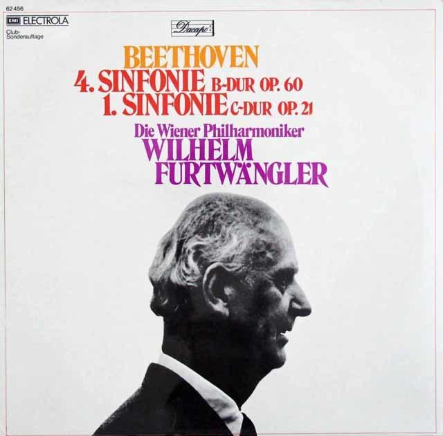 【未開封】 フルトヴェングラーのベートーヴェン/交響曲第1&4番 独Dacapo 3120 LP レコード