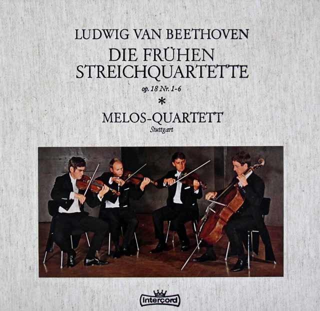 メロス四重奏団のベートーヴェン/初期弦楽四重奏曲集 独Intercord 3120 LP レコード