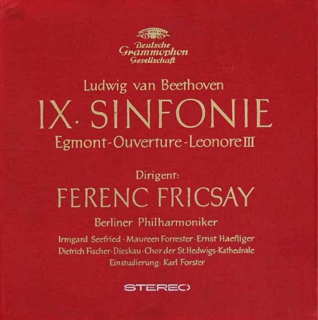 【オリジナル盤】 フリッチャイのベートーヴェン/交響曲第9番「合唱付き」ほか 独DGG 3120 LP レコード