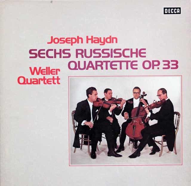ウェラー四重奏団のハイドン/ロシア四重奏曲集 独DECCA 3120 LP レコード