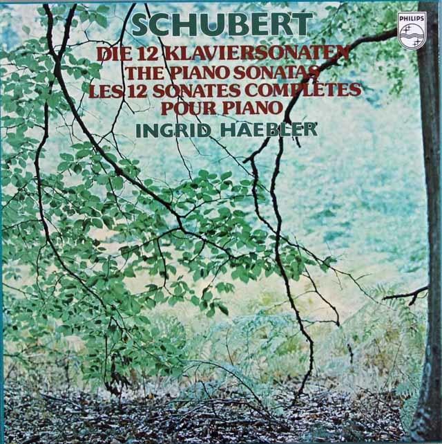 ヘブラーのシューベルト/ピアノ・ソナタ全集 蘭PHILIPS 3120 LP レコード