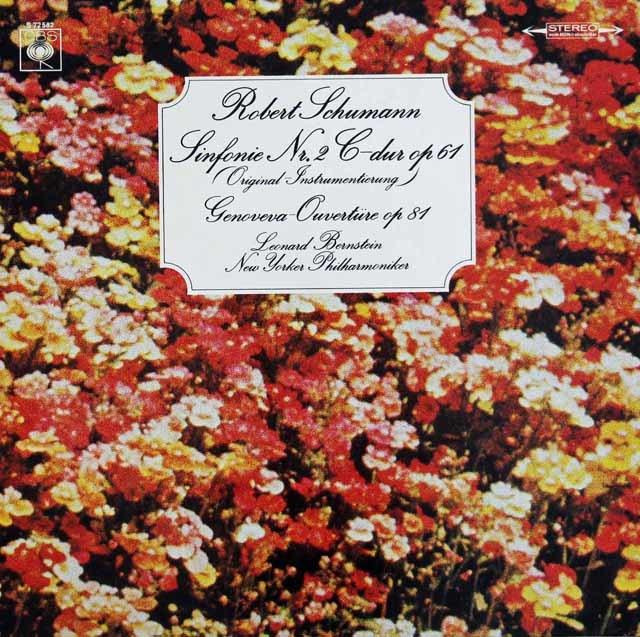 バーンスタインのシューマン/交響曲第2番ほか 独CBS 3121 LP レコード