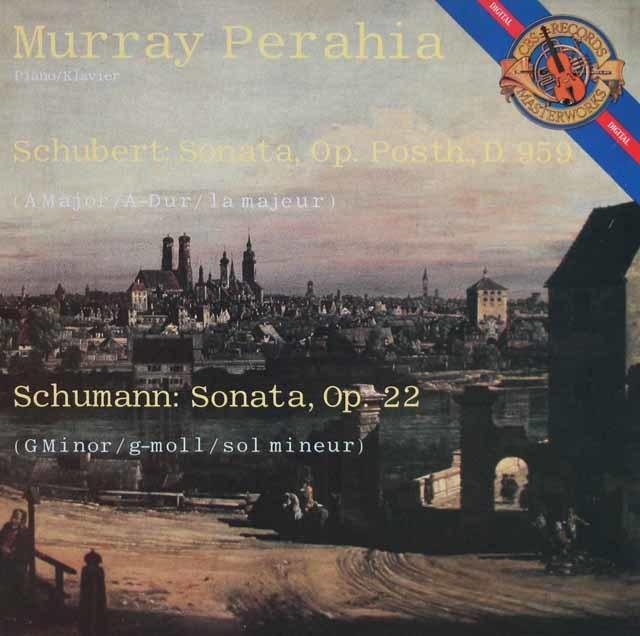 ペライアのシューベルト/ピアノソナタ第20番ほか 蘭CBS 3121 LP レコード