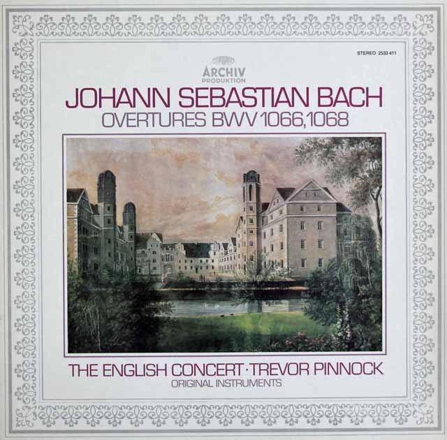 ピノックのバッハ/管弦楽組曲第1&3番 独ARCHIV 3121 LP レコード