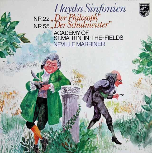 マリナーのハイドン/交響曲「哲学者」&「校長先生」 蘭PHILIPS 3121 LP レコード