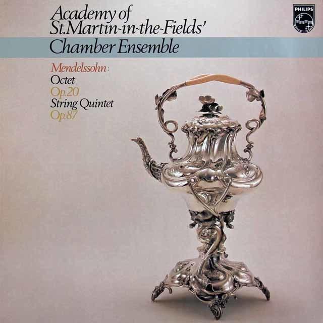 アカデミー室内アンサンブルのメンデルスゾーン/弦楽八重奏曲&弦楽五重奏曲第2番 蘭PHILIPS 3121 LP レコード
