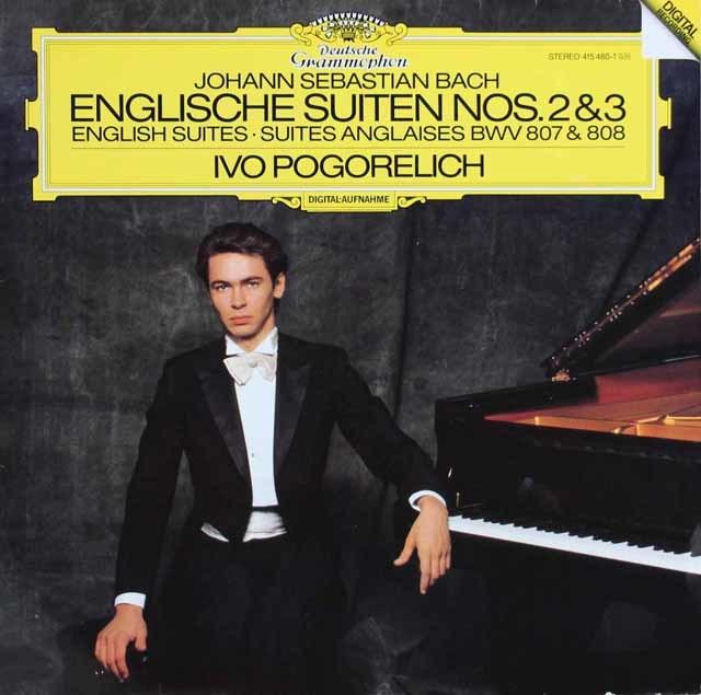 ポゴレリチのバッハ/イギリス組曲第2&3番 独DGG 3121 LP レコード