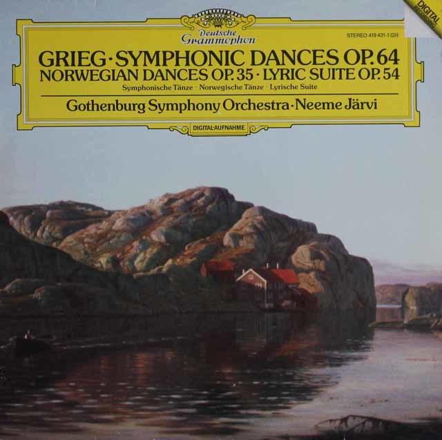 ヤルヴィのグリーグ/交響的舞曲ほか 独DGG 3121 LP レコード