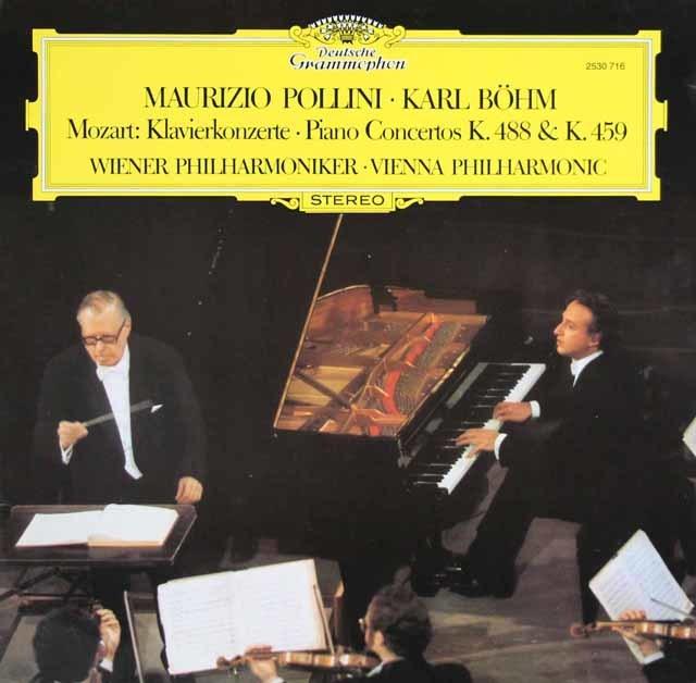 ポリーニ&ベームのモーツァルト/ピアノ協奏曲第19&23番 独DGG 3121 LP レコード