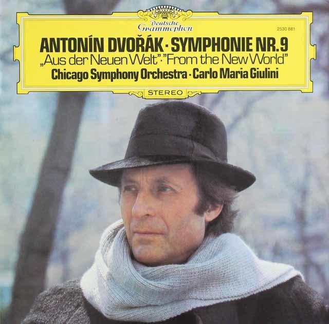 ジュリーニのドヴォルザーク/交響曲第9番「新世界より」 独DGG 3121 LP レコード