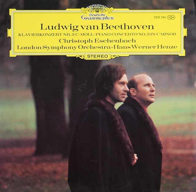 ヘンツェ&エッシェンバッハのベートーヴェン/ピアノ協奏曲第3番 独DGG 3121 LP レコード