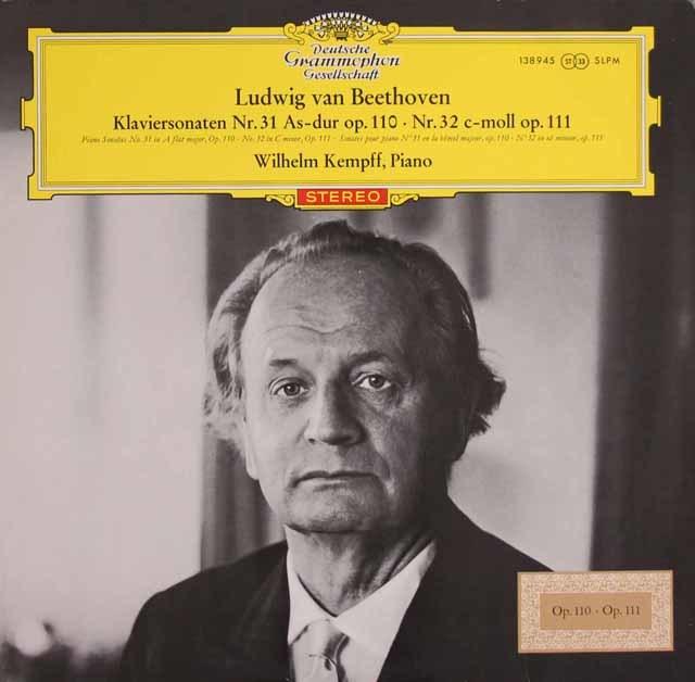 【赤ステレオ/独最初期盤】 ケンプのベートーヴェン/ピアノソナタ第31&32番 独DGG 3121 LP レコード