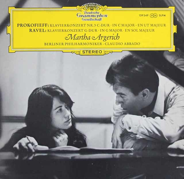 【チューリップレーベル】アルゲリッチ&アバドのプロコフィエフ&ラヴェル/ピアノ協奏曲 独DGG 3121 LP レコード