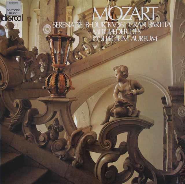 コレギウム・アウレウムのモーツァルト/「グラン・パルティータ」 独HM 3121 LP レコード