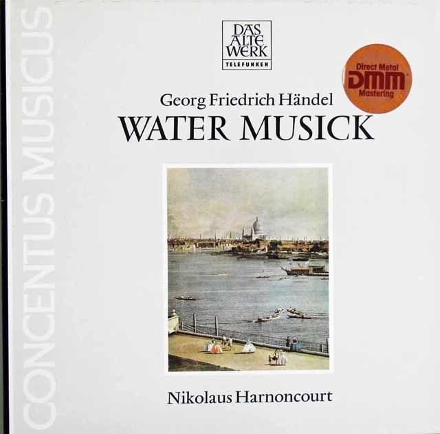 アーノンクールのヘンデル/「水上の音楽」 独TELEFUNKEN 3121 LP レコード