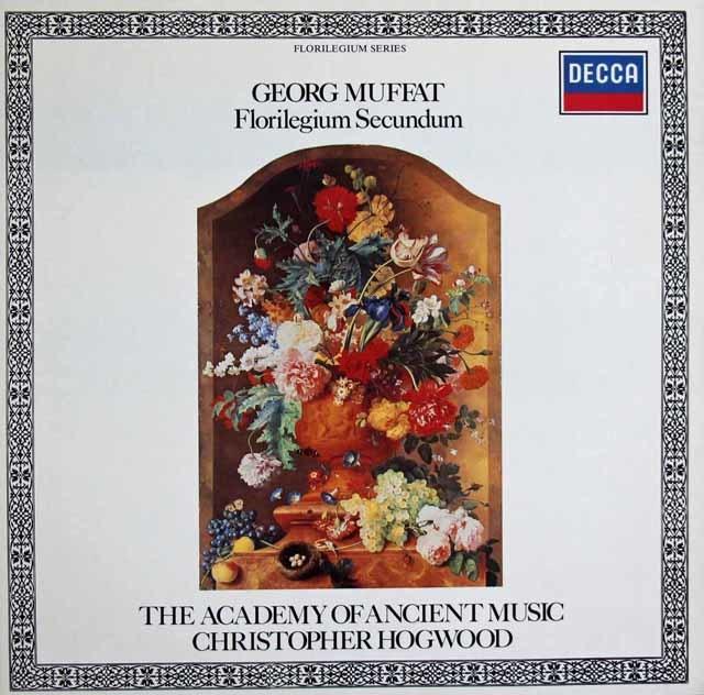ホグウッドのムッファト/管弦楽組曲集「フロリレジウム」 独DECCA 3121 LP レコード