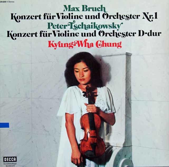チョンのブルッフ&チャイコフスキー/ヴァイオリン協奏曲集 独DECCA 3121 LP レコード