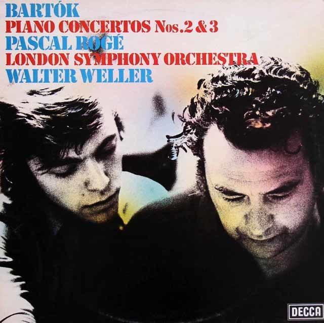 【オリジナル盤】 ロジェ&ウェラーのバルトーク/ピアノ協奏曲第2&3番 英DECCA 3121 LP レコード