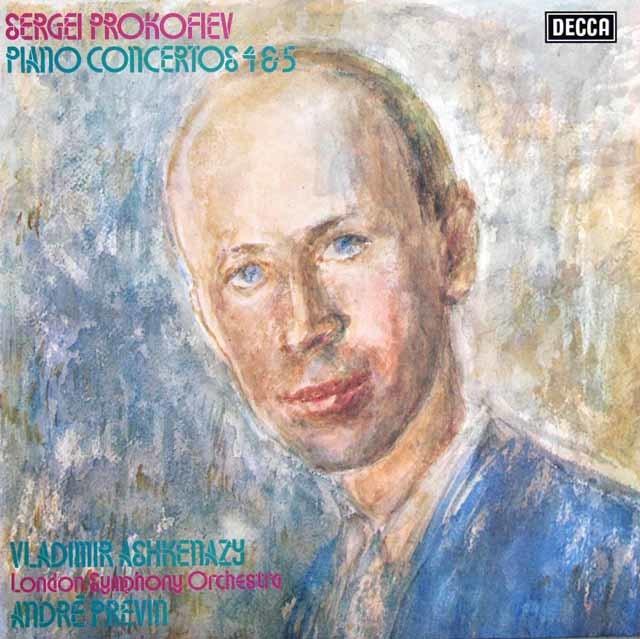 【オリジナル盤】 アシュケナージ&プレヴィンのプロコフィエフ/ピアノ協奏曲第4&5番 英DECCA 3121 LP レコード