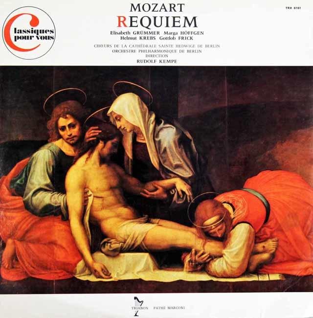 ケンペのモーツァルト/レクイエム 仏TRIANON 3121 LP レコード