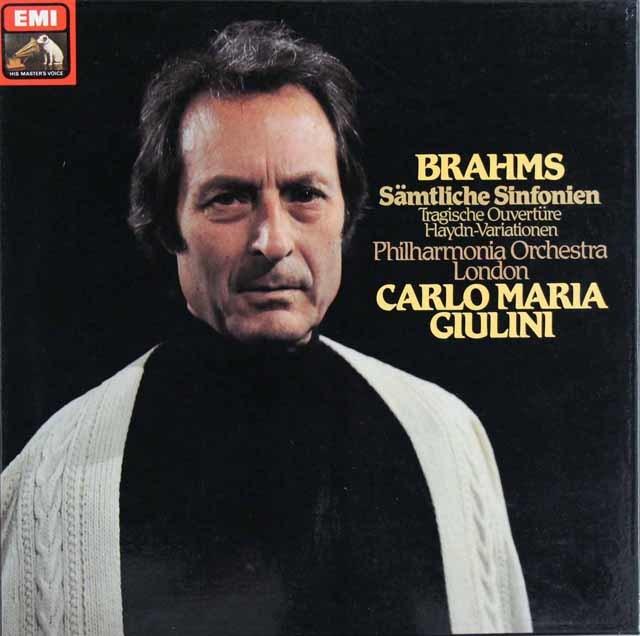 【直筆サイン入り】 ジュリーニのブラームス/交響曲全集 独EMI 3121 LP レコード