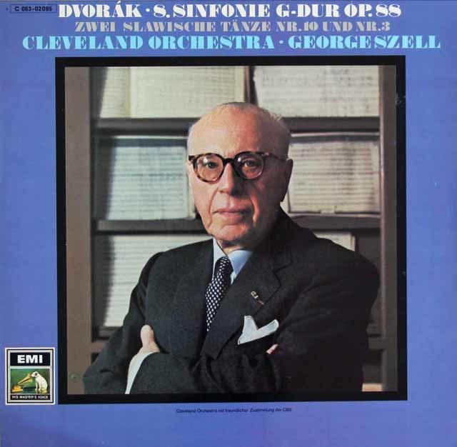 セルのドヴォルザーク/交響曲第8番ほか 独EMI 3121 LP レコード