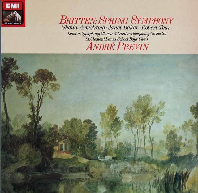 プレヴィンのブリテン/「春の交響曲」 独EMI 3121 LP レコード