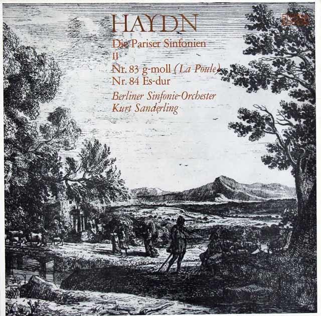 ザンデルリンクのハイドン/交響曲「めんどり」ほか 独ETERNA 3121 LP レコード