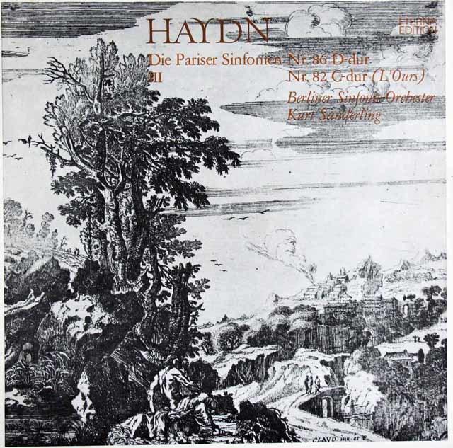ザンデルリンクのハイドン/交響曲第86&82番「熊」 独ETERNA 3121 LP レコード