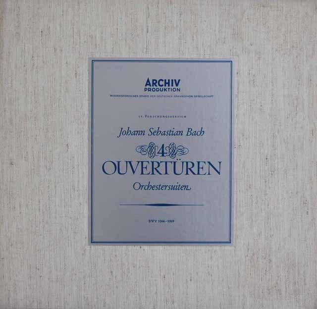 リヒターのバッハ/「管弦楽組曲」全集 独ARCHIV 3121 LP レコード