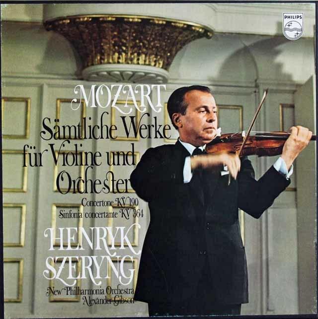 シェリングのモーツァルト/ヴァイオリン協奏曲全曲ほか 蘭PHILIPS 3121 LP レコード