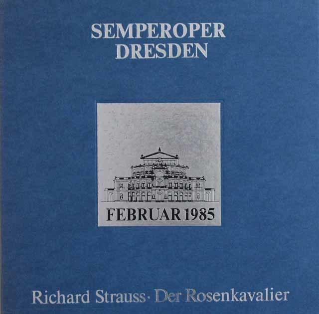 ドレスデン・ゼンパー・オーパー復興記念 フォンクのR.シュトラウス/「ばらの騎士」全曲 独ETERNA 3121 LP レコード