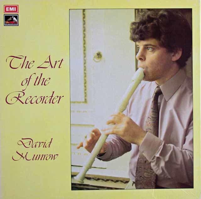 【オリジナル盤】 マンロウの「リコーダーの芸術」 英EMI 3121 LP レコード