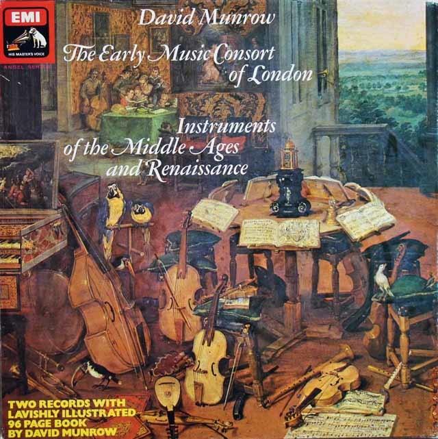 【オリジナル盤】 マンロウの「中世、ルネッサンスの楽器」 英EMI 3121 LP レコード