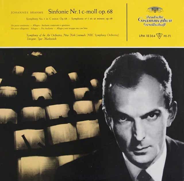 マルケヴィチのブラームス/交響曲第1番 独DGG 3122 LP レコード