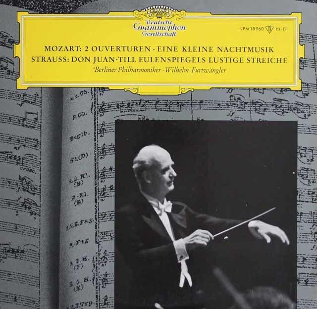 フルトヴェングラーのモーツァルト/「アイネ・クライネ・ナハトムジーク」ほか 独DGG 3122 LP レコード
