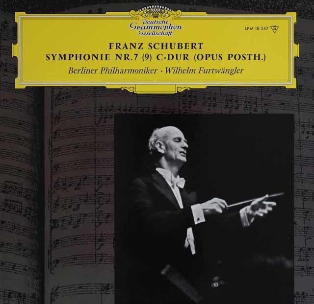 フルトヴェングラーのシューベルト/交響曲第9番「ザ・グレイト」 独DGG 3122 LP レコード