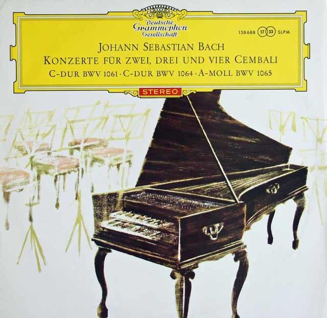 【赤ステレオ・オリジナル】 マーロー、クック、ザイデンベルクらのバッハ/2台、3台、4台のチェンバロのための協奏曲 独DGG 3122 LP レコード