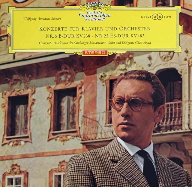 【赤ステレオ、オリジナル盤】アンダのモーツァルト/ピアノ協奏曲第6&22番  独DGG 3122 LP レコード